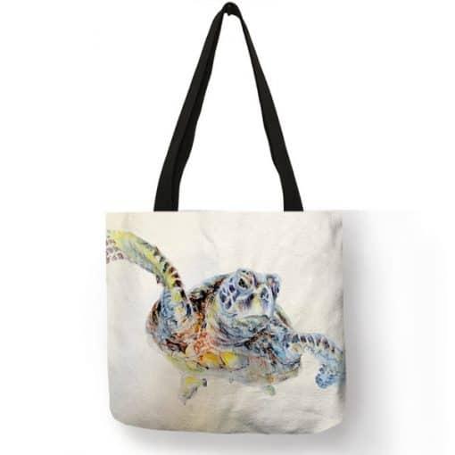 photo de tortue sur sac à main femme