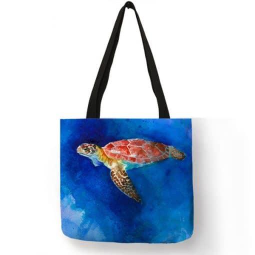 photo de tortue sur sac fourre-tout