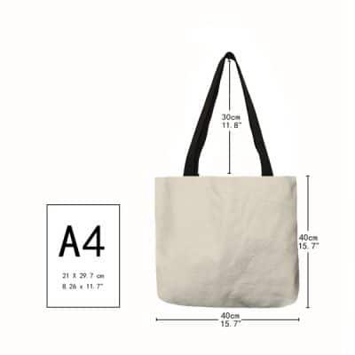 taille A4 du sac fourre-tout