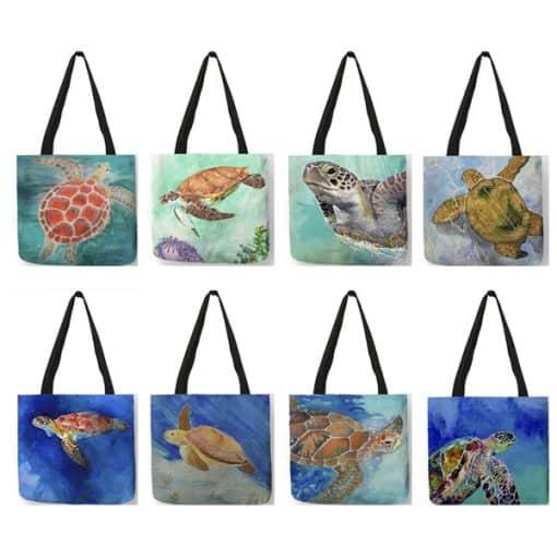 mosaïque de sac de dessin de tortue