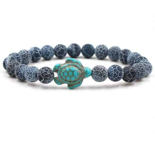 bracelet tortue remous marins pierres animal totem