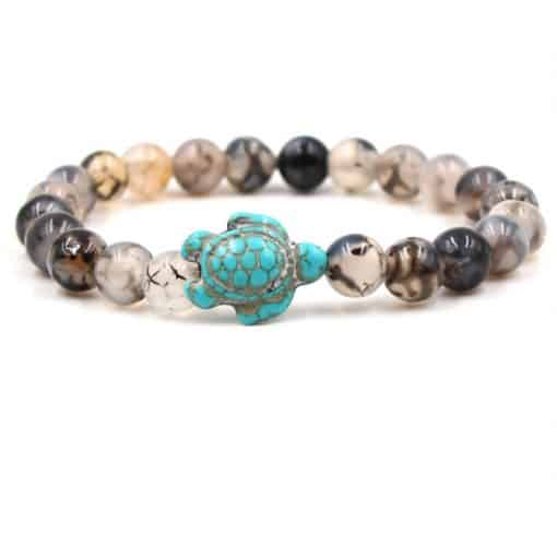 bracelet tortue pierre couleur coquillage