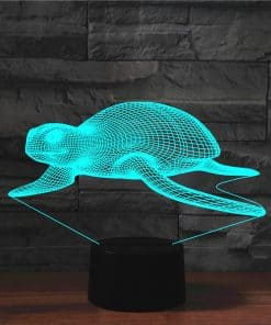 lampe 3D tortue blanche