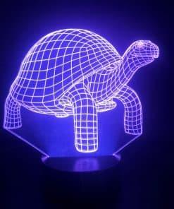 décoration tortue lumineuse violette