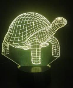 décoration tortue lampe 3D orange