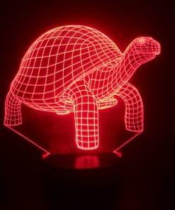 chélonien rouge lumière 3 dimensions