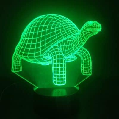 reptile à carapace vert lampe tortue