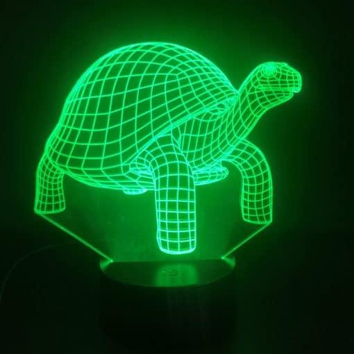 lampe 3D tortue à carapace verte