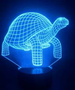 lampe 3D tortue bleue claire