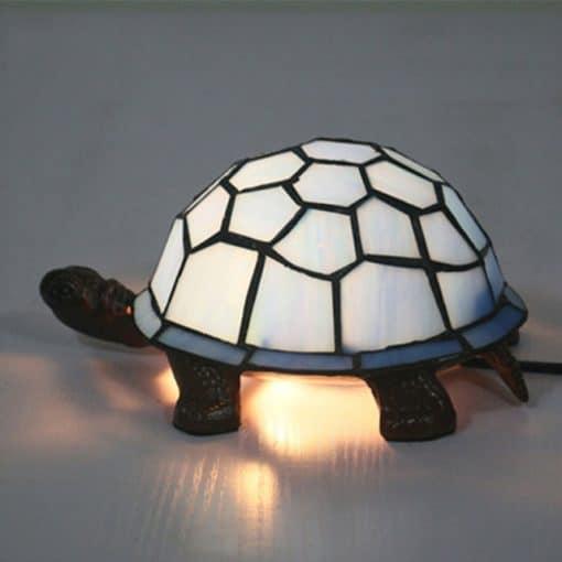 lampe tortue blanche rétro