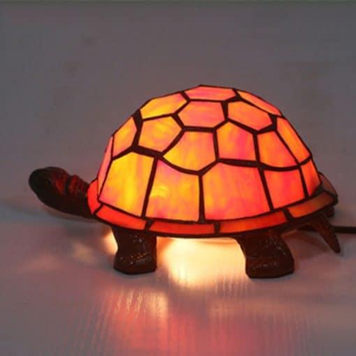 veilleuse tortue orange