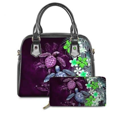 sac à main tortue magenta profond fleuri