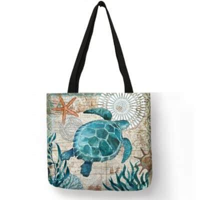 sac tortue parcheminé tendance